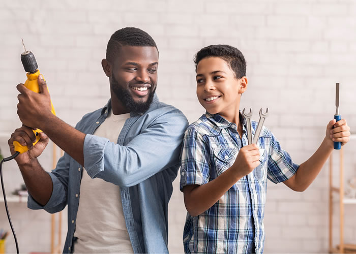 Is your dad a DIY Dad with a creative side? Plan a project you can do together. You could help him fix or clean something around the house just to make him happy. Check out the DIY section at Shoprite for all the tools or cleaning agents you may require.