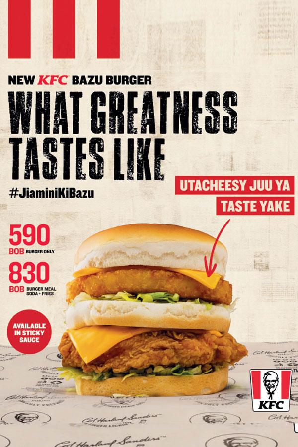 New KFC Bazu Burger