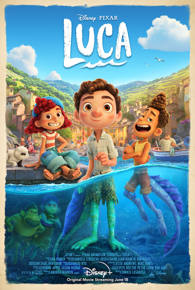 Luca, On the Italian Riviera, an unlikely but strong friendship grows between a human being and a sea monster disguised as a human.